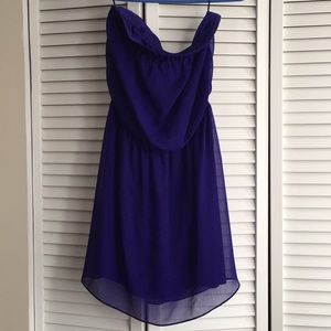 Royal Purple strapless Express Dress